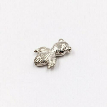 Sterling Silver Fish Bead | 14.5mm Stringing Length | 11.3mm Width | ZT0820