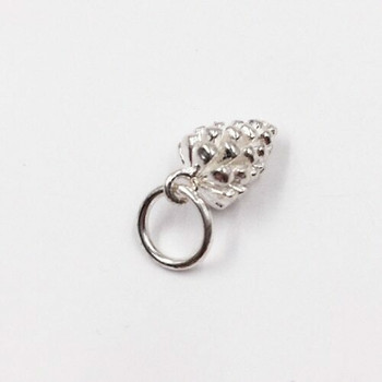 Sterling Silver Grapes Charm | 15mm Hanging Length | 11.5mm Length | 7mm Width | 5mm Hole | ZT0821