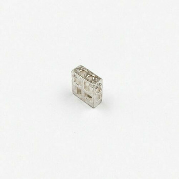 Sterling Silver Window Bead | 7.8 x 7.8mm | 1.3mm Hole | ZT0823