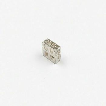Sterling Silver Window Bead | 7.8 x 7.8mm | 1.3mm Hole | ZT0823