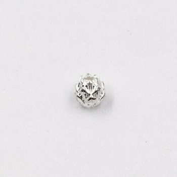 Small Sterling Silver Pinecone Bead | 5.5mm Stringing Length | 5.8mm Width | 1mm Hole | ZT0824