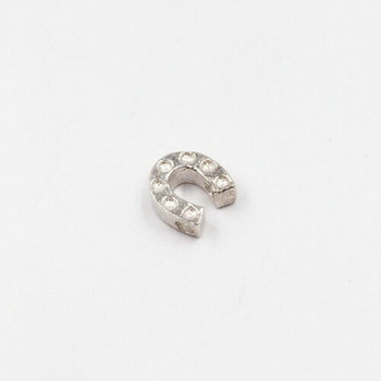 Sterling Silver Horseshoe Bead | 6.8 x 6.8 mm | 1mm Hole | ZT0505