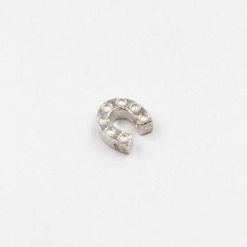 Sterling Silver Horseshoe Bead | 6.8 x 6.8 mm | 1mm Hole | ZT0505