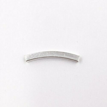 Sterling Silver Bead | Large Curved Square | 2.5cm L | 3mm OD | 2mm ID | ZT0507