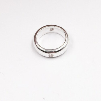 Sterling Silver Ring Bead | 11mm Stringing Bead | 11mm Width | 1mm Hole | ZT0508