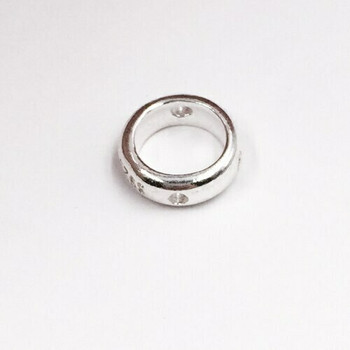Sterling Silver Ring Bead | 9mm Stringing Length | 9mm Width | 1mm Hole | ZT0510