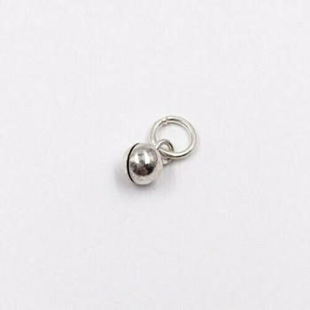 Sterling Silver Bell Charm | 9mm Hanging Length | 4mm Width | 3.5mm Hole | ZT0301