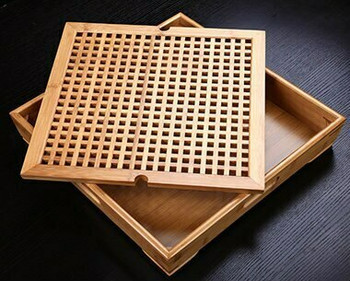 Bamboo Tea Tray Square 40x40x7cm | DHG01