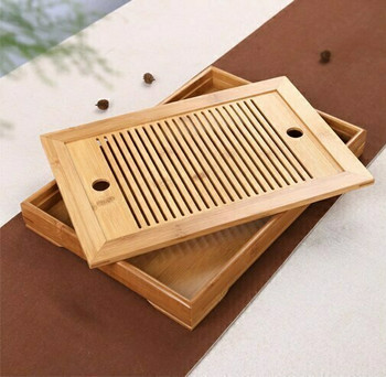 Bamboo Tea Tray Square 36x25x4cm | DHG03