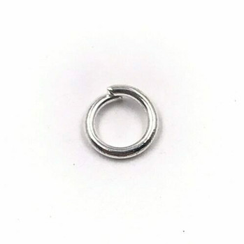 Base Metal Silver Finish 18ga Round Jump Ring | 6mm OD | 4.4mm ID | Sold by Each | XZ132B