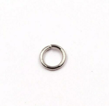 Base Metal Nickle Finish 18ga Round Jump Ring | 6mm OD | 4.4mm ID | Sold by Each | XZ132C