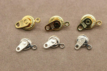 Snap Clasp Platinum Finishing 7mm   Sold by Each   PATS7