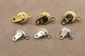 Snap Clasp 14K Gold Plated 7mm   Sold by Each   PATG7