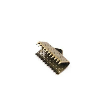 Base Metal Bronze Finish Ribbon Clamp 13mm | Sold by Pc | XZ220BR13