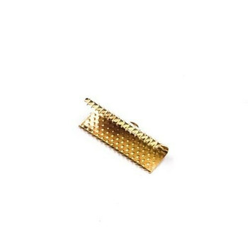 Base Metal Gold Finish Ribbon Clamp 20mm   Sold by Pc   XZ220GLD20