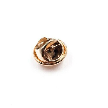 Base Metal Gold Finish Tie Tac Clutch | with 4mm-pad Pin | Sold by Each | 661228GF