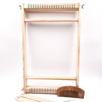 Tapestry Frame Loom with Shuttles, Comb, and Darning Needle | 10x16"
