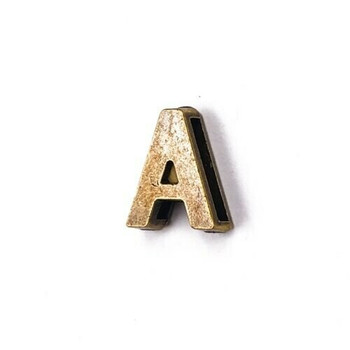 Base Metal Letter Beads | A | Sold by Each | XZ240-A