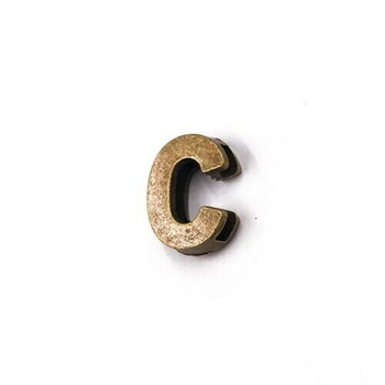 Base Metal Letter Beads | C | Sold by Each | XZ240-C
