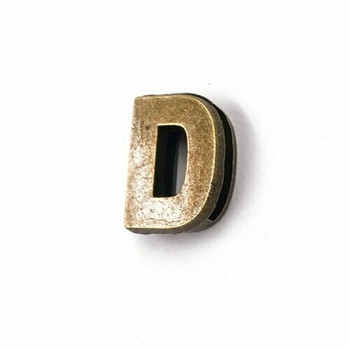 Base Metal Letter Beads | D | Sold by Each | XZ240-D
