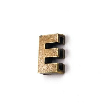Base Metal Letter Beads | E | Sold by Each | XZ240-E