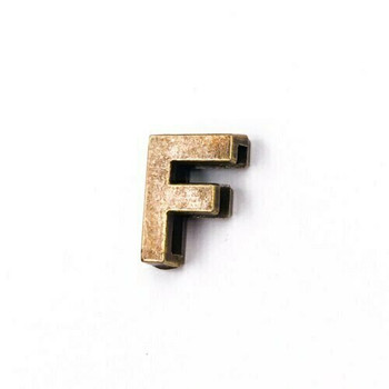 Base Metal Letter Beads | F | Sold by Each | XZ240-F