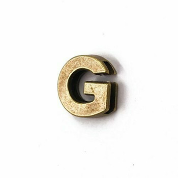 Base Metal Letter Beads   G   Sold by Each   XZ240-G