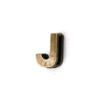 Base Metal Letter Beads | J | Sold by Each | XZ240-J