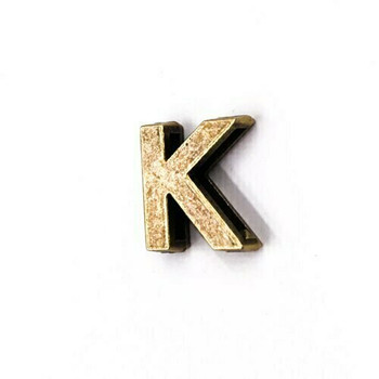 Base Metal Letter Beads | K | Sold by Each | XZ240-K