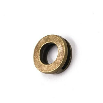 Base Metal Letter Beads   O   Sold by Each   XZ240-O