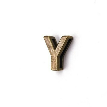 Base Metal Letter Beads   Y   Sold by Each   XZ240-Y