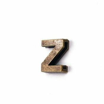 Base Metal Letter Beads   Z   Sold by Each   XZ240-Z