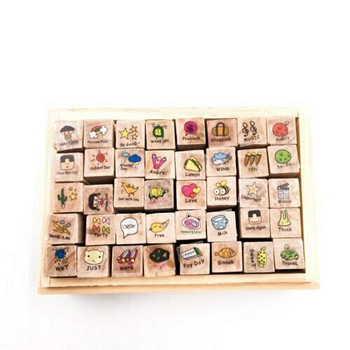 Diary Stamp Set of 40 | Happy Day | JDS40A