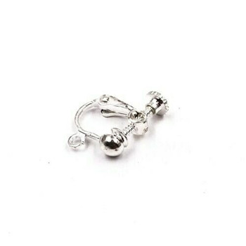 925 Sterling Silver Plated Copper Ear Clip | 12mm | Sold by Pair | XHT04
