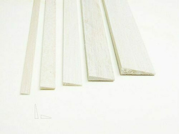 "Balsa wood, Trailing edge, 5/16 x 1 1/4 x 36"", Sold By Each 