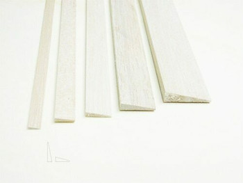 "Balsa wood, Trailing edge, 1/2 x 2 x 12"", Sold By Each 
