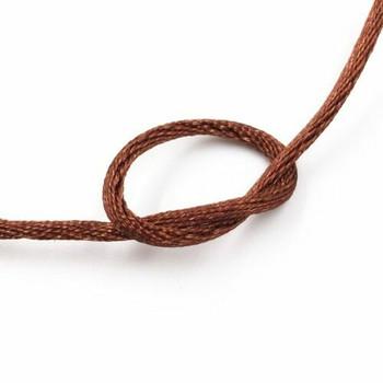 Knotting Cord (Korean Silk) | 2 mm dia. | Chocolate Brown | Sold by Metre | CYM11