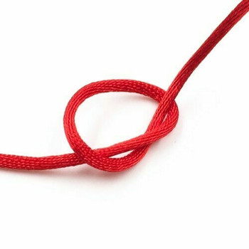 Knotting Cord (Korean Silk) | 2 mm dia. | Red | Sold by Metre | CYM12