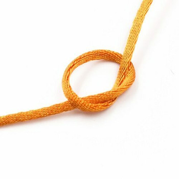Knotting Cord (Korean Silk) | 2 mm dia. | Orange | Sold by Metre | CYM13