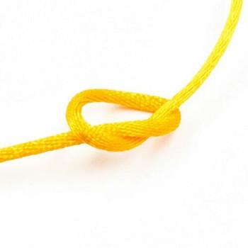 Knotting Cord (Korean Silk) | 2 mm dia. | Yellow | Sold by Metre | CYM14