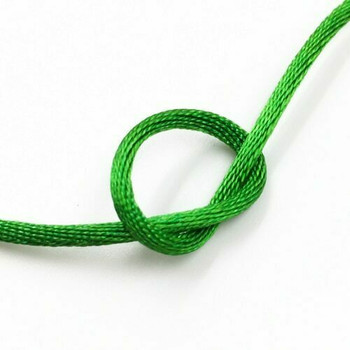 Knotting Cord (Korean Silk) | 2 mm dia. | Green | Sold by Metre | CYM16