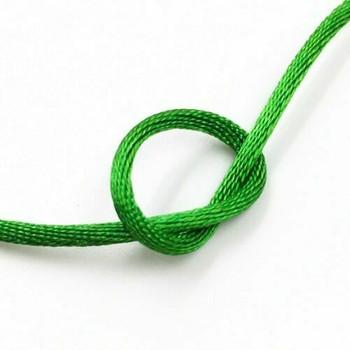 Knotting Cord (Korean Silk) | 2 mm dia. | Green | Sold by Metre | CYM16