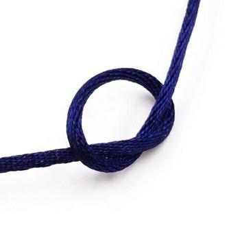 Knotting Cord (Korean Silk) | 2 mm dia. | Indigo | Sold by Metre | CYM19