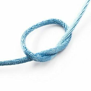 Knotting Cord (Korean Silk) | 2 mm dia. | Light Blue | Sold by Metre | CYM21