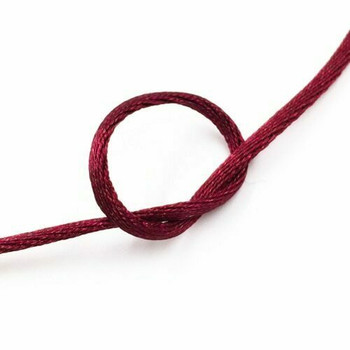 Knotting Cord (Korean Silk) | 2 mm dia. | Maroon | Sold by Metre | CYM24