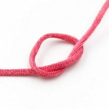 Knotting Cord (Korean Silk) | 2 mm dia. | Rose Pink | Sold by Metre | CYM27