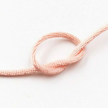 Knotting Cord (Korean Silk) | 2 mm dia. | Light Pink | Sold by Metre | CYM28