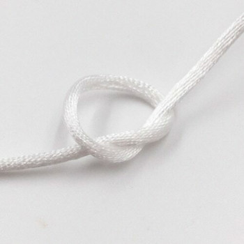 Knotting Cord (Korean Silk) | 2 mm dia. | White | Sold by Metre | CYM29