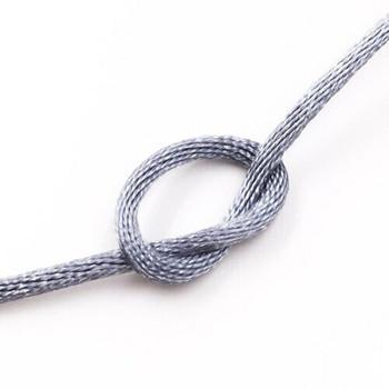 Knotting Cord (Korean Silk) | 2 mm dia. | Grey | Sold by Metre | CYM30