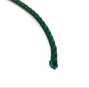 Dragon Braided Cord | 4 mm dia. | Green | Sold by Metre | CYM04